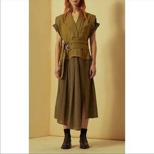 Sea New York Kinney Combo Double Belted Dress Sz 10